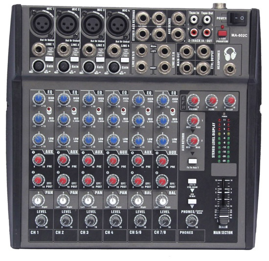 8 channel small Audio Mixer