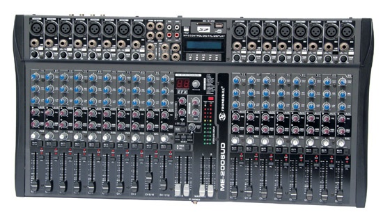 24 channel Audio Mixer with USB & SD & LCD display & Group