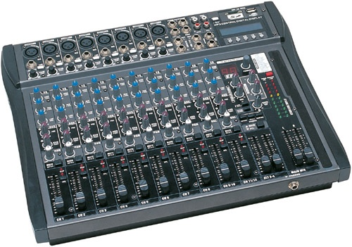 12 channel Audio Mixer with USB & SD card slot & LCD display