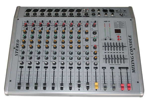 10 channel Powered Mixer