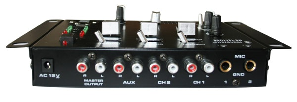 3 channels mini DJ mixer
