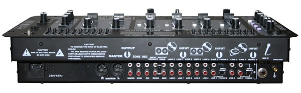 4 channel DJ Mixer with USB & LCD display