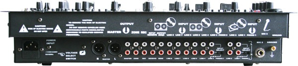 4 channel DJ Mixer with ECHO