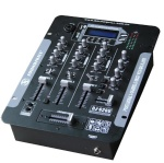 3 channel DJ Mixer with USB & SD card slot & LCD display